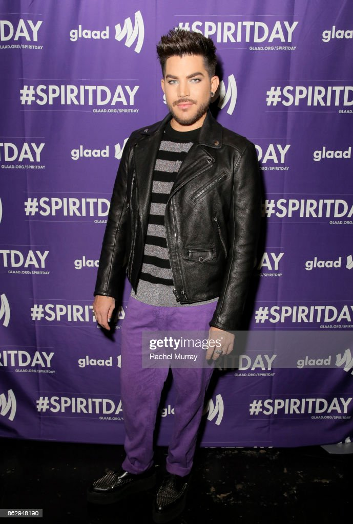 Adam Lambert at Justin Tranter And GLAAD Present 'Believer' Spirit Day Concert at Sayer's Club on October 18, 2017 in Los Angeles, California.