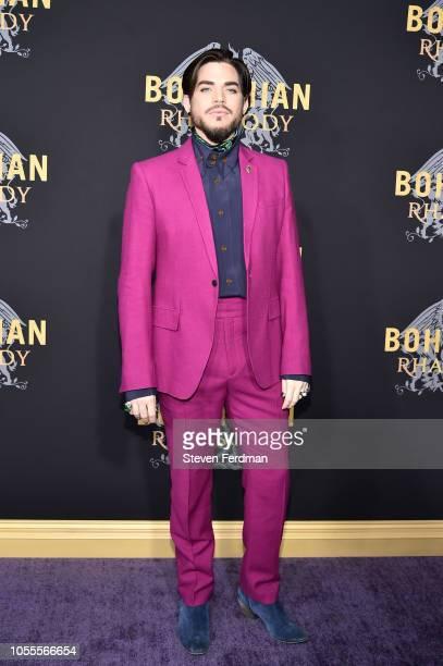 Adam Lambert attends 'Bohemian Rhapsody' New York Premiere at The Paris Theatre on October 30 2018 in New York City