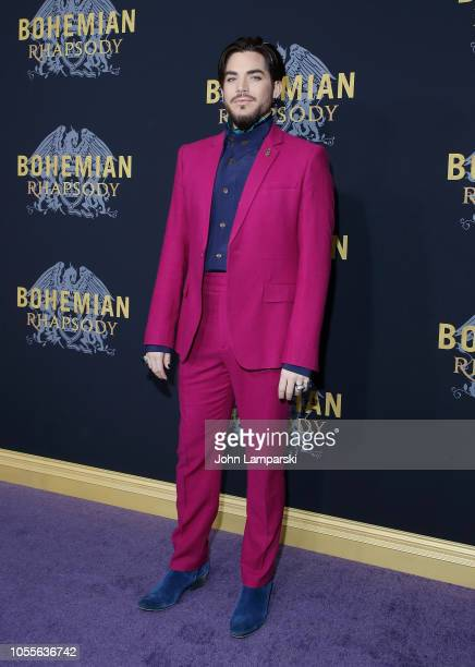 Adam Lambert attends Bohemian Rhapsody New York premiere at The Paris Theatre on October 30 2018 in New York City