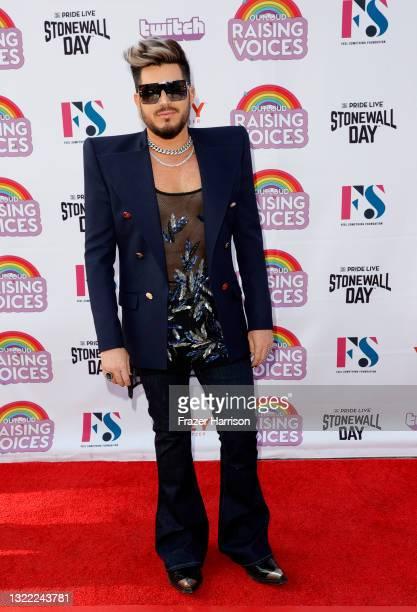 Adam Lambert attends OUTLOUD: Raising Voices Concert Series at Los Angeles Memorial Coliseum on June 06, 2021 in Los Angeles, California.