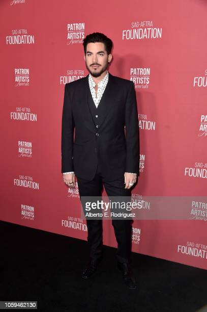 Adam Lambert attends SAGAFTRA Foundation's 3rd Annual Patron of the Artists Awards at Wallis Annenberg Center for the Performing Arts on November 8...