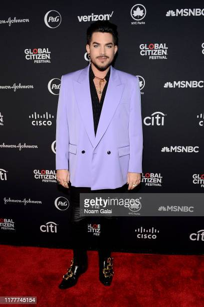 Adam Lambert attends the 2019 Global Citizen Festival: Power The Movement in Central Park on September 28, 2019 in New York City.