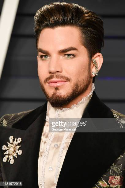 Adam Lambert attends the 2019 Vanity Fair Oscar Party hosted by Radhika Jones at Wallis Annenberg Center for the Performing Arts on February 24 2019...