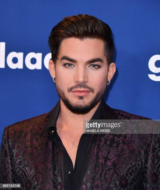 Adam Lambert attends the 29th Annual GLAAD Media Awards at The New York Hilton Midtown on May 5 2018 in New York City