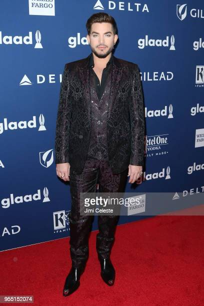 Adam Lambert attends the 29th Annual GLAAD Media Awards at the New York Hilton Midtown on May 5 2018 in New York New York