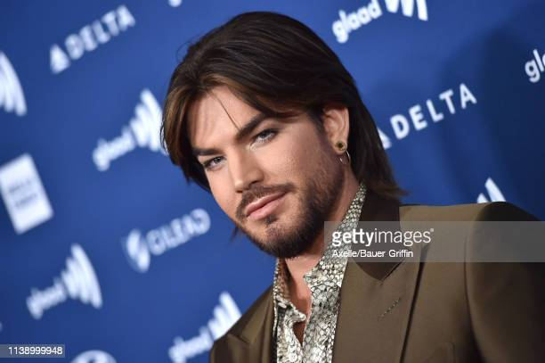 Adam Lambert attends the 30th Annual GLAAD Media Awards at The Beverly Hilton Hotel on March 28, 2019 in Beverly Hills, California.