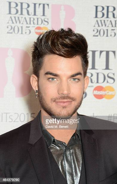 Adam Lambert attends the BRIT Awards 2015 at The O2 Arena on February 25 2015 in London England