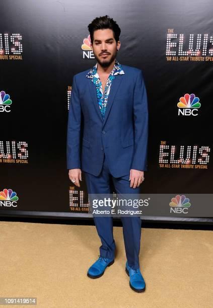 Adam Lambert attends The Elvis '68 AllStar Tribute Special at Universal Studios Hollywood on October 11 2018 in Universal City California