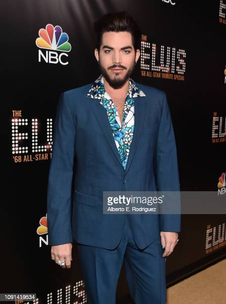 Adam Lambert attends The Elvis '68 AllStar Tribute Special at Universal Studios Hollywood on October 11 2018 in Universal City California