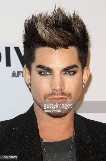 Adam Lambert attends the Official VH1 Divas after party to benefit VH1 Save The Music Foundation at The Shrine Expo Hall on December 16 2012 in Los...