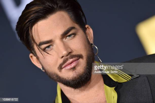 Adam Lambert attends the premiere of Warner Bros Pictures' 'A Star Is Born' at The Shrine Auditorium on September 24 2018 in Los Angeles California