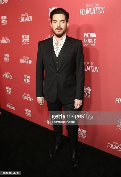 Adam Lambert attends the SAGAFTRA Foundation's 3rd Annual Patron of the Artists Awards at the Wallis Annenberg Center for the Performing Arts on...