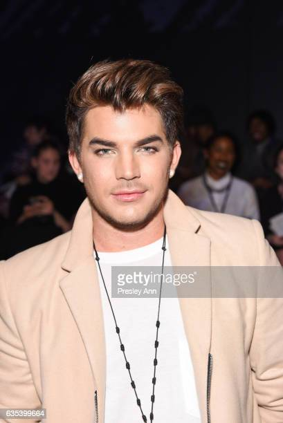 Adam Lambert attends the The Blonds show during New York Fashion Week Presented By MADE at Skylight Clarkson Sq on February 14 2017 in New York City