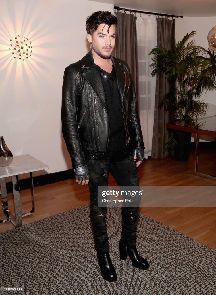 Adam Lambert attends the Wolk Morais Collection 6 Fashion Show at The Hollywood Roosevelt Hotel on January 17, 2018 in Los Angeles, California.