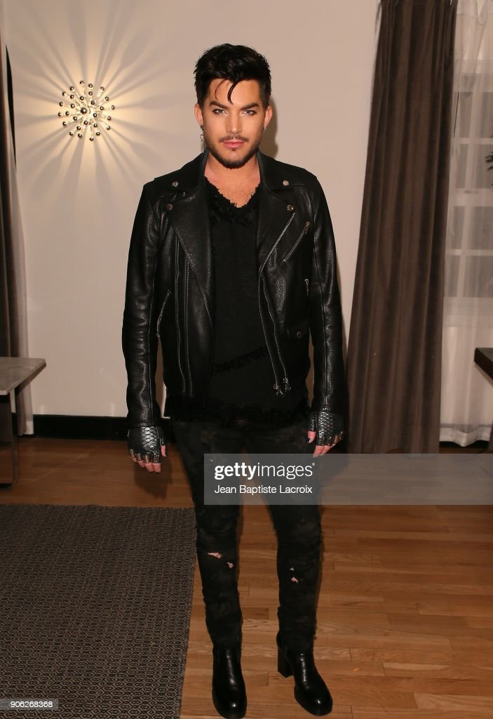 Adam Lambert attends the Wolk Morais Collection 6 Fashion Show on January 17, 2018 in Los Angeles, California.