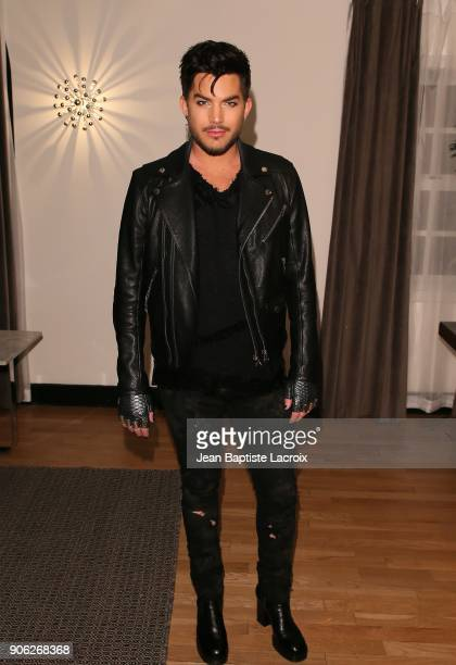 Adam Lambert attends the Wolk Morais Collection 6 Fashion Show on January 17 2018 in Los Angeles California
