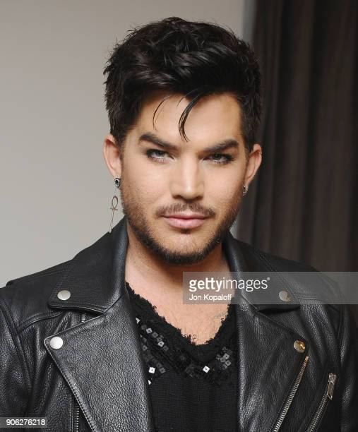 Adam Lambert attends Wolk Morais Collection 6 Fashion Show at The Hollywood Roosevelt Hotel on January 17 2018 in Los Angeles California