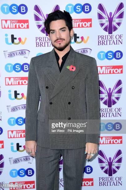 Adam Lambert during the Pride of Britain Awards held at the The Grosvenor House Hotel London