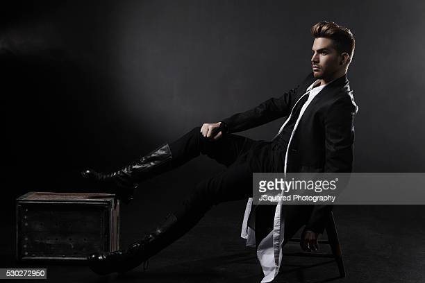 Adam Lambert is photographed for Glamoholic on May 15 2015 in Los Angeles California