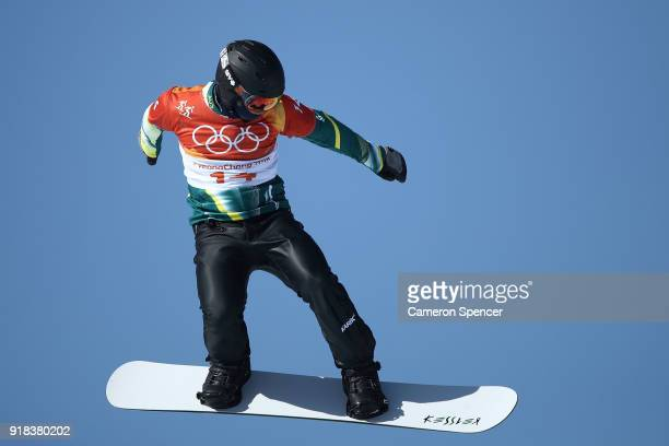 Adam Lambert of Australia competes during the Men's Snowboard Cross Seeding on day six of the PyeongChang 2018 Winter Olympic Games at Phoenix Snow...
