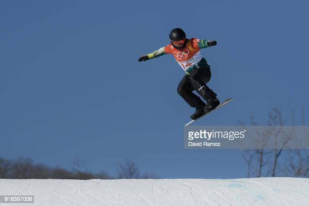 Adam Lambert of Australia warms up ahead of the Men's Snowboard Cross Seeding on day six of the PyeongChang 2018 Winter Olympic Games at Phoenix Snow...