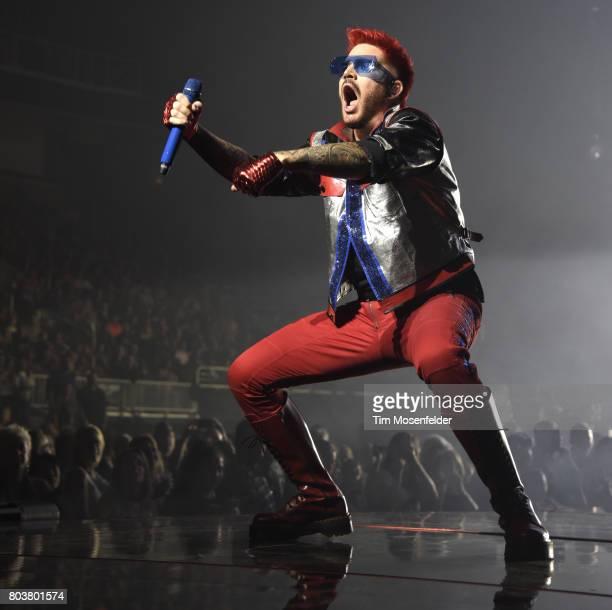Adam Lambert of Queen Adam Lambert performs at SAP Center on June 29 2017 in San Jose California
