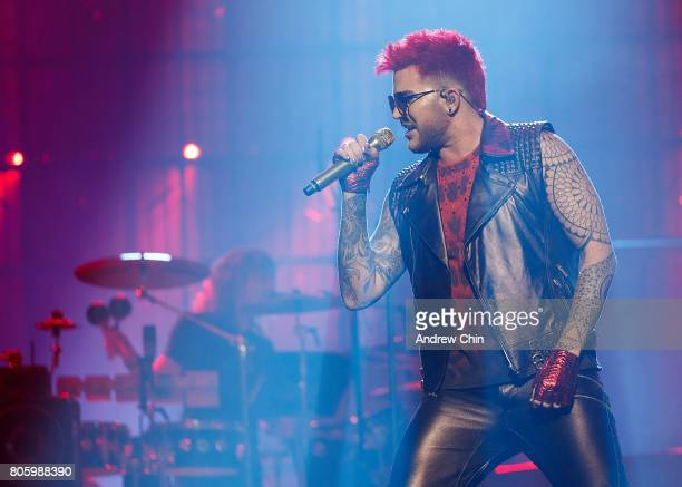 Adam Lambert of Queen Adam Lambert performs on stage at Pepsi Live at Rogers Arena on July 2 2017 in Vancouver Canada