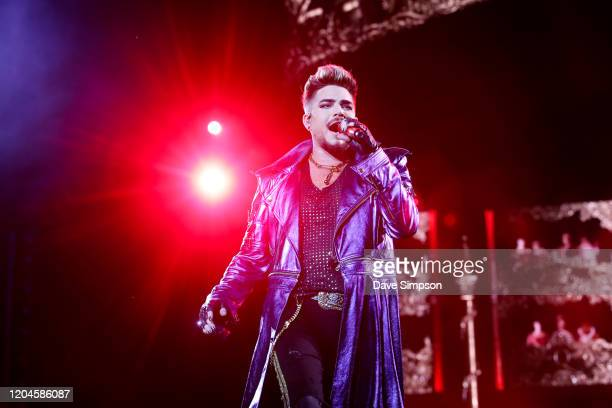Adam Lambert performs as Queen Adam Lambert at Mt Smart Stadium on February 07 2020 in Auckland New Zealand