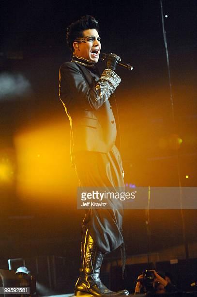 Adam Lambert performs at KIIS FM's 2010 Wango Tango Concert at Nokia Theatre LA Live on May 15 2010 in Los Angeles California