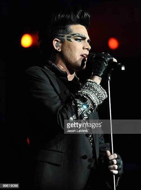 Adam Lambert performs at KIIS FM's 2010 Wango Tango concert at Staples Center on May 15 2010 in Los Angeles California