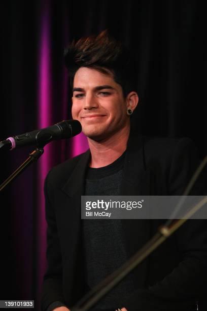 Adam Lambert performs at the Radio Station Q102 iHeartradio Performance Theater February 16, 2012 in Bala Cynwyd, Pennsylvania.