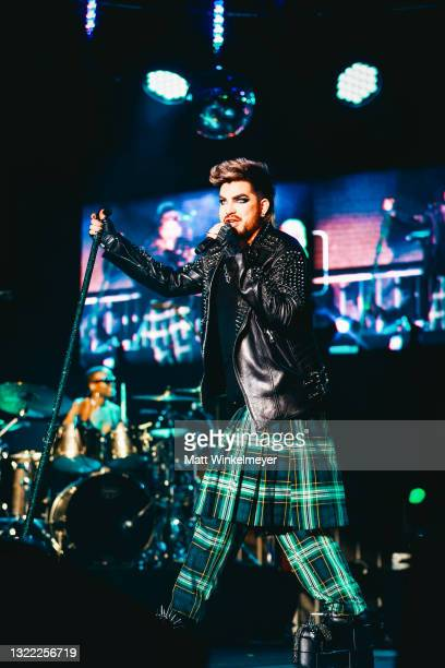 Adam Lambert performs during the OUTLOUD: Raising Voices concert series at Los Angeles Memorial Coliseum on June 06, 2021 in Los Angeles, California.
