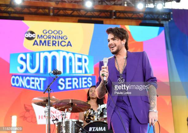 """Adam Lambert performs live from Central Park as part of the GMA Summer Concert Series on """"Good Morning America,"""" Friday, June 28 airing on the Walt..."""