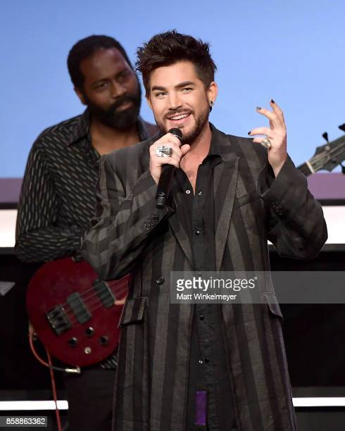 Adam Lambert performs onstage at Point Honors Los Angeles 2017 benefiting Point Foundation at The Beverly Hilton Hotel on October 7 2017 in Beverly...