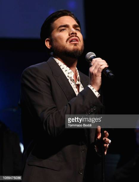 Adam Lambert performs onstage at the SAGAFTRA Foundation's 3rd Annual Patron of the Artists Awards at the Wallis Annenberg Center for the Performing...