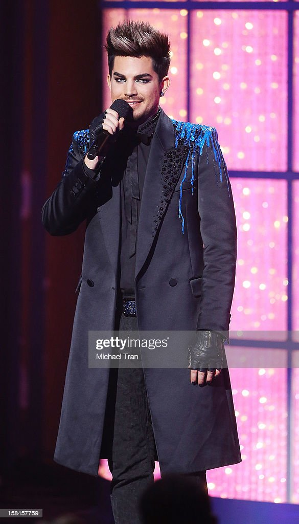 Adam Lambert performs onstage at the 'VH1 Divas' show held at The Shrine Auditorium on December 16, 2012 in Los Angeles, California.