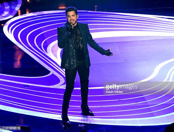 Adam Lambert performs onstage onstage during the 91st Annual Academy Awards at Dolby Theatre on February 24 2019 in Hollywood California