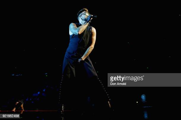 Adam Lambert performs with Queen at Qudos Bank Arena on February 21 2018 in Sydney Australia