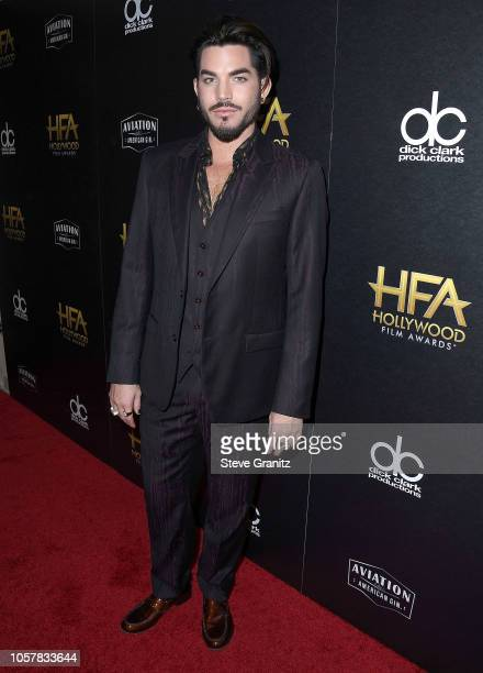 Adam Lambert poses at the 22nd Annual Hollywood Film Awards on November 4 2018 in Beverly Hills California