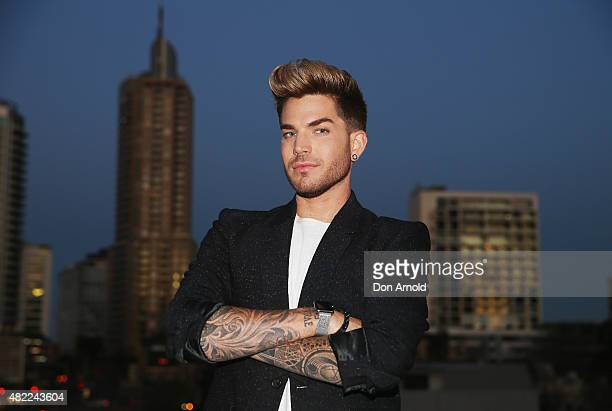 Adam Lambert poses during the Voice Live Finals Show Launch on July 29 2015 in Sydney Australia