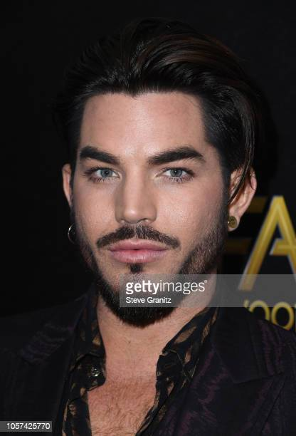 Adam Lambert poses in the press room during the 22nd Annual Hollywood Film Awards at The Beverly Hilton Hotel on November 4 2018 in Beverly Hills...