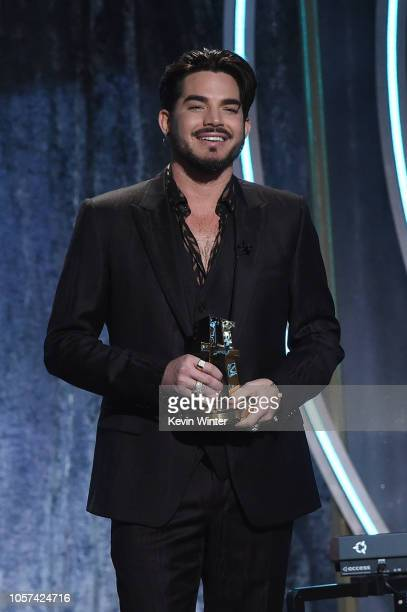 Adam Lambert presents the Hollywood Documentary Award onstage during the 22nd Annual Hollywood Film Awards at The Beverly Hilton Hotel on November 4...