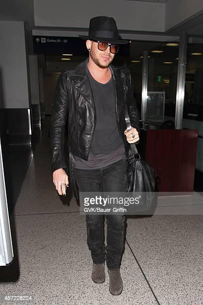 Adam Lambert seen at LAX on October 14 2014 in Los Angeles California