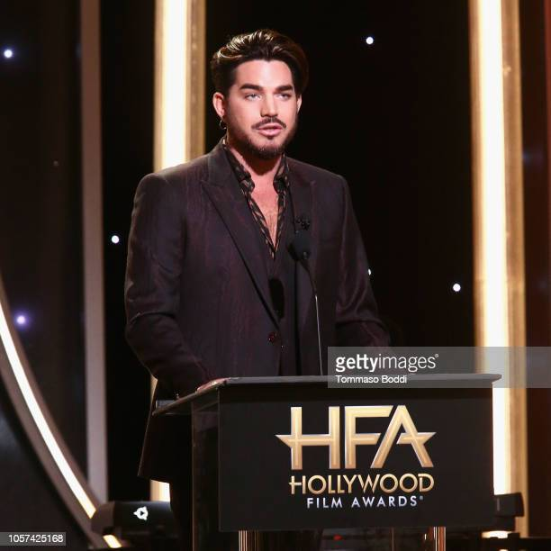 Adam Lambert speaks onstage during the 22nd Annual Hollywood Film Awards at The Beverly Hilton Hotel on November 4 2018 in Beverly Hills California