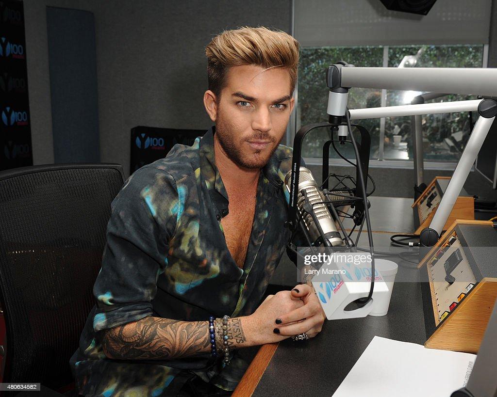 Adam Lambert Visits Y 100 Radio Station : News Photo