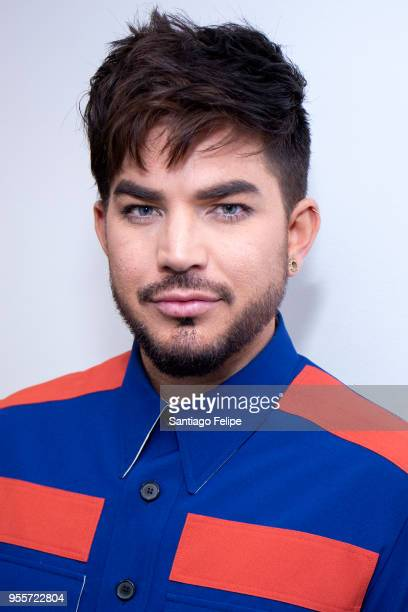 Adam Lambert visits SiriusXM Studios on May 7 2018 in New York City