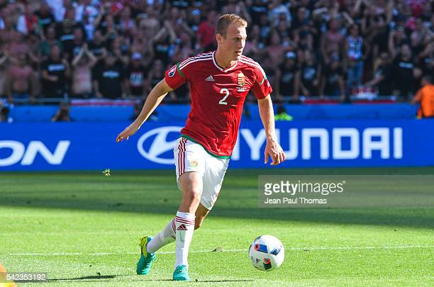 Adam LANG of Hungary during the UEFA EURO 2016 Group F match between Hungary and Portugal at Stade des Lumieres on June 22 2016 in Lyon France