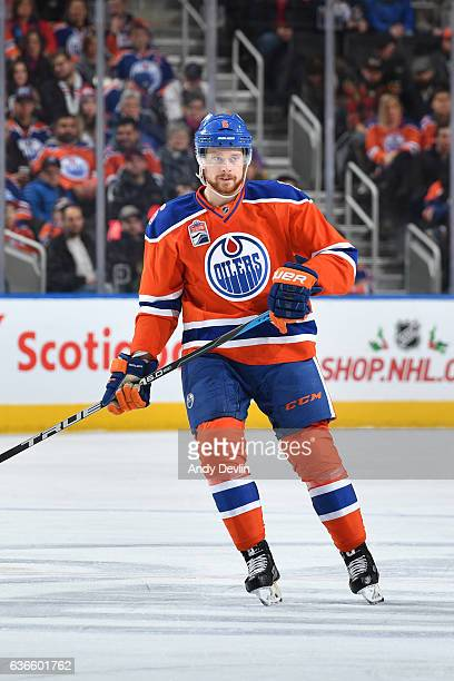 Adam Larsson of the Edmonton Oilers skates during the game against the Tampa Bay Lightning on December 17 2016 at Rogers Place in Edmonton Alberta...