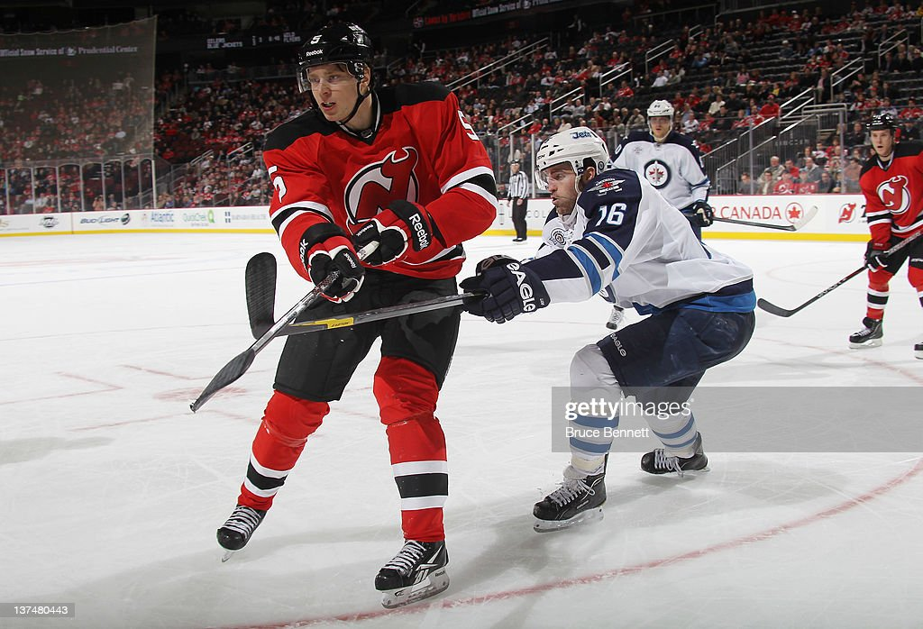 online store 6d54e 5ab13 Adam Larsson of the New Jersey Devils skates against the ...