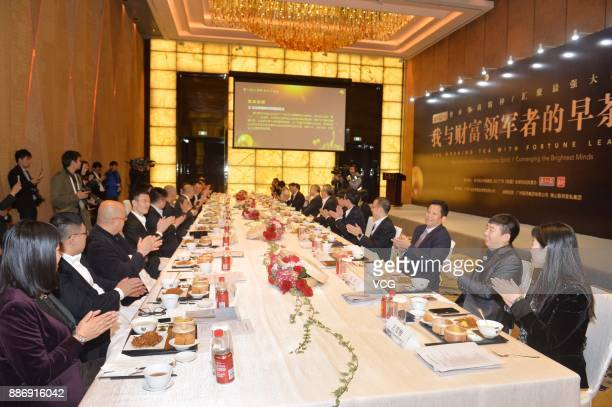 Adam Lashinsky executive chief editor of magazine Fortune attends The Morning Tea With Fortune Leaders ahead of the 2017 Fortune Global Forum on...